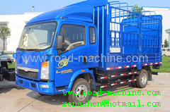 Sinotruk Howo 4x2 Light Cargo Truck Stake Zz1127e4215b180 Euroii 120hp