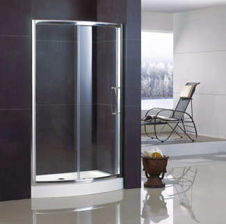 Sliding Bowfront Shower Door China Bathroom Supplier With Double Side Easy Clean Nano Coating Qa Bf