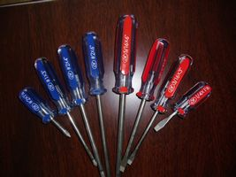Slotted Phillips Acetate Handles Screwdriver With Cr V Blades