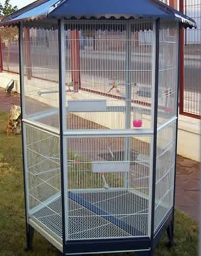 Small Bird Flight Cage Safe And Roomy Dwelling For Lovebirds