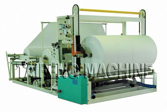 Small Jumbo Roll Slitting And Rewinding Toilet Papermachine