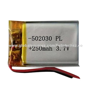 Small Size Lithium Ion Polymer Battery With Pcm 502030 250mah 3 7 Lipo Rechargeable Mp3 4