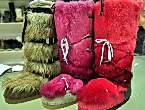 Snow Boots With Cony Hairs