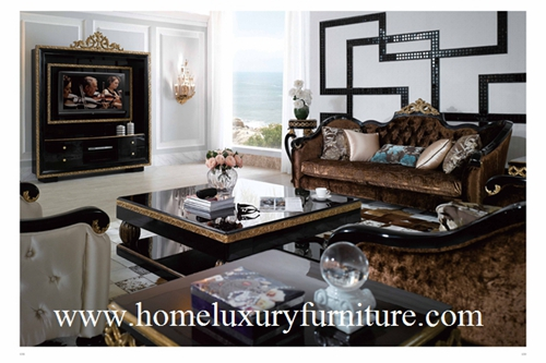 Sofa Living Room Furniture Price Supplier Fabric Classical Sets Ti001
