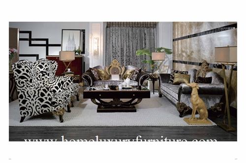 Sofa Sets Fabric Sofas Neo Classical Living Room Furniture High Quality Good Design Ti002