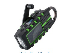 Solar Hand Crank Weatherband Radio