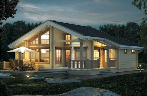 Spf Single Storey Wooden House 2015 Hot Sell Dy D 165