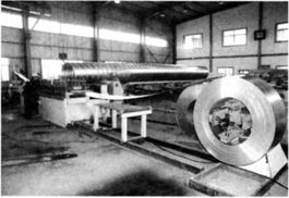 Spiral Corrugated Steel Tube Forming Machine