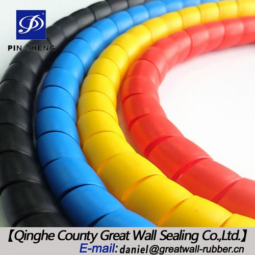 Spiral Hose Guard For Protecting Hydraulic Hoses From Hitting