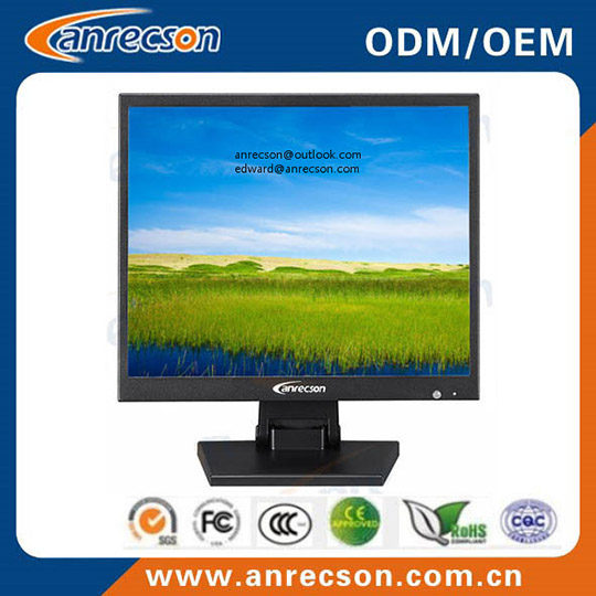 Square 19 Inch Hd Cctv Monitor With Audio Ports
