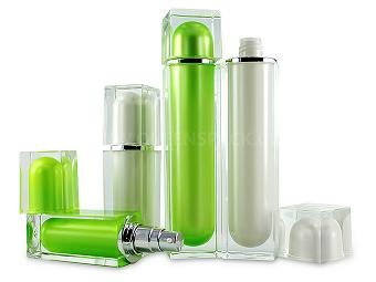 Square Clear Lotion Bottle For Cosmetic Packaging