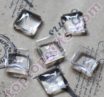 Square Glass Cabochon Mobile Phone Shell Decorative Jewelry Making Supplies