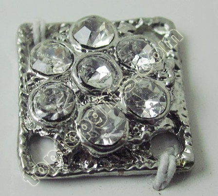 Square Rhinestone Button