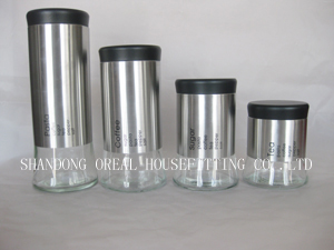 Stainless Steel Glass Jars Containers
