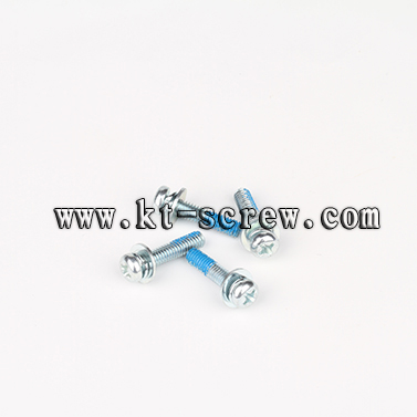 Steel Blue Zinc Plated Anti Loose Combination Screw With Nylok Patch