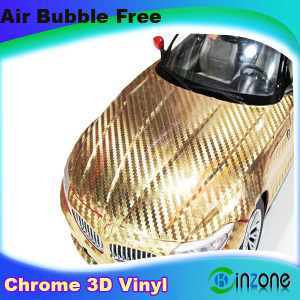 Steel Chrome 3d Carbon Fiber Vinyl Sticker Vehicle Assorted For Car Styling With Air Free Bubbles 1