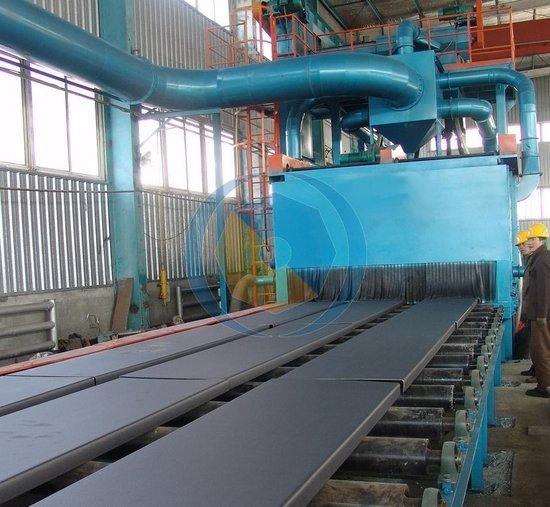 Steel Plate Derusting Abrator Through Type Shot Blasting Machine