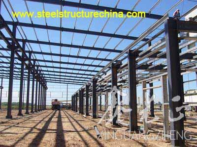 Steel Structure Workshop Building Xinguangzheng Qingdao China