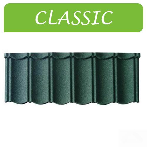Stone Coated Steel Roofing Tile In Classic Type 5
