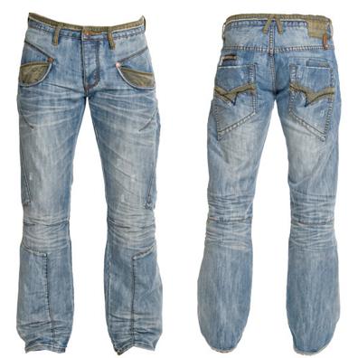Stone Wash Sand Blast Pattern In Jeans