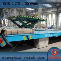 Storage Battery Powered Transfer Cart For Heavy Cargoes Transportation In Workshops