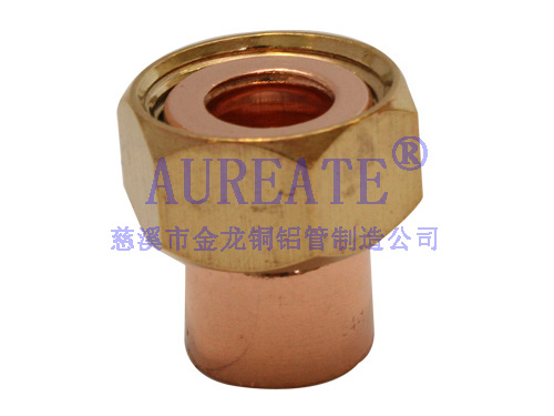 Straight Nut Connect Flat Nect Cxf1 Copper Fitting