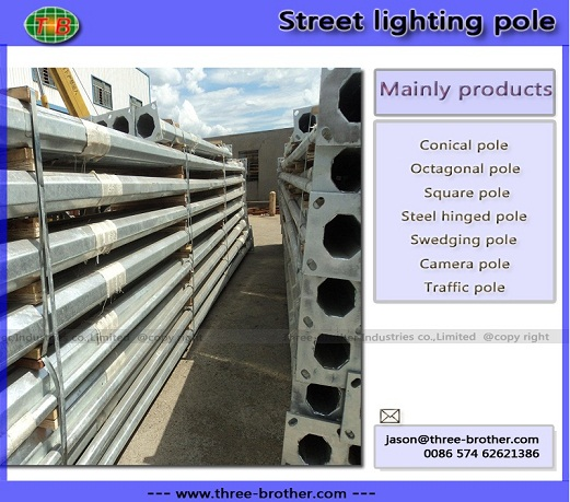 Street Lighting Pole Produce According To Customers Requirements
