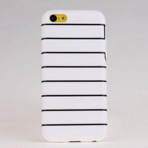 Stripe Tpu Soft Back Case Cover For Iphone 5c