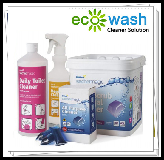 Super Concentrated All Purpose Cleaner Encapsulated In Fully Water Soluble Sachets