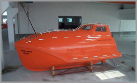 Supply Freefall Lifeboat And Davit For Shipbuilding Totally Enclosed Open Type Res