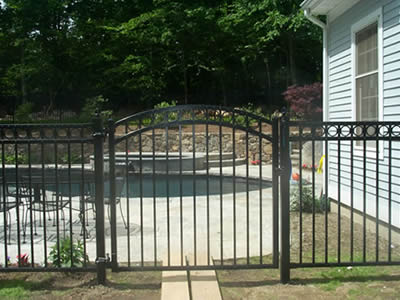 Swing Pedestrian Gates And Driveway