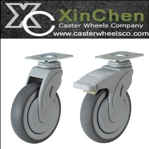 Swivel Plate Hospital Bed Casters Medical