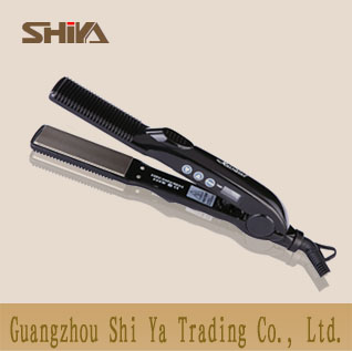 Sy 828 Shiya Hair Straightener Manufacture Lcd Showing The Temperature 2 In 1 Curler