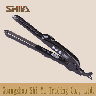 Sy 863 Shiya China Hair Straighteners Flat Irons Digital Lcd Temperature Display White Back