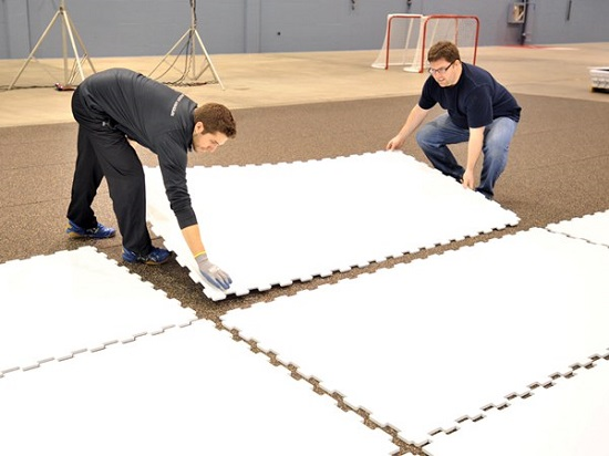 Synthetic Ice Rink Supplied For More Than 1300 Customer In 30 Countries Jinhang Plastic