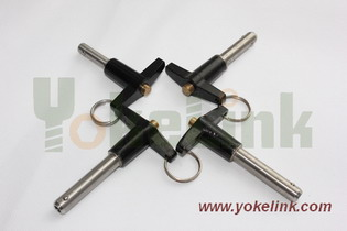 T Handle Self Locking Pin Clevis Detent Double Acting Quick Release Pull Lanyard Special Screws Nut