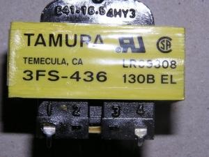 Tamura Transformer 3fs 436 115v To 36v Or 18v