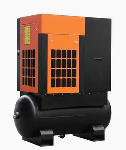 Tank Mounted Screw Air Compressor With Dryer