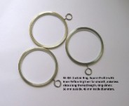 Teflon Inner Stainless Steel Curtain Ring