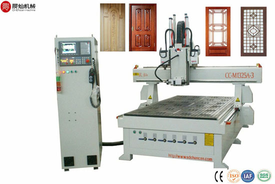 Three Workstages Wood Cnc Router For Door Cc Ms1325as 3
