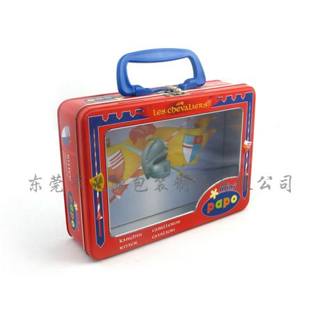 Tin Tool Box With Handle