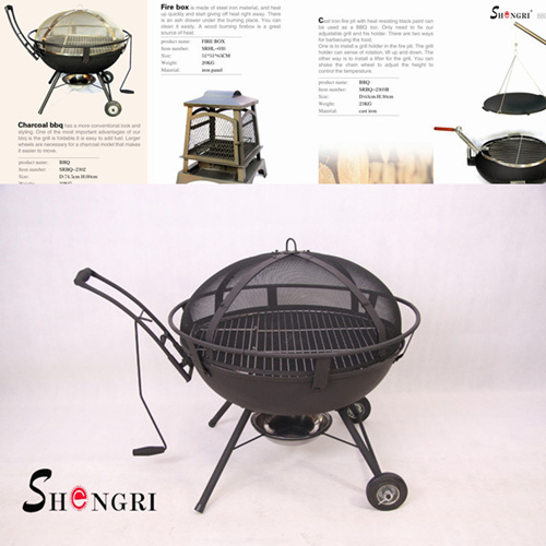 Top Quality Outdoor Cast Iron Bbq Fire Pit