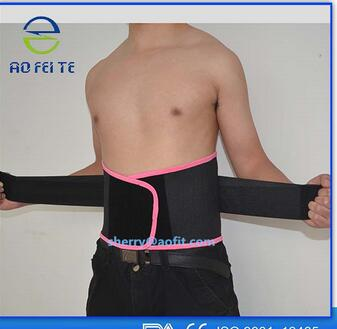 Top Selling Pink With Black Lumbar Brace Back Waist Support Belt For Men