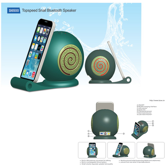 Topspeed Silicon Snail Bluetooth Speaker S6500