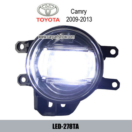 Toyota Camry Front Fog Lamp Assembly Led Drl Lights Daytime Running Light 278ta