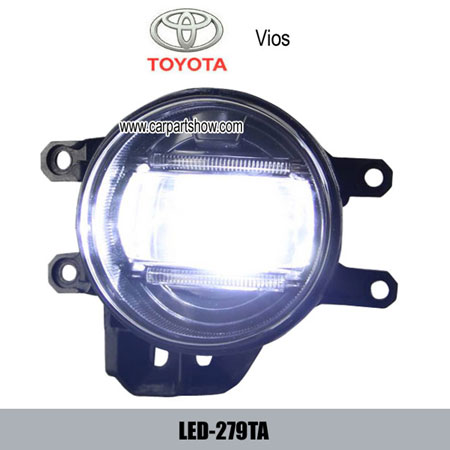 Toyota Vios Front Fog Lamp Assembly Led Drl Lights Daytime Running Light 279ta