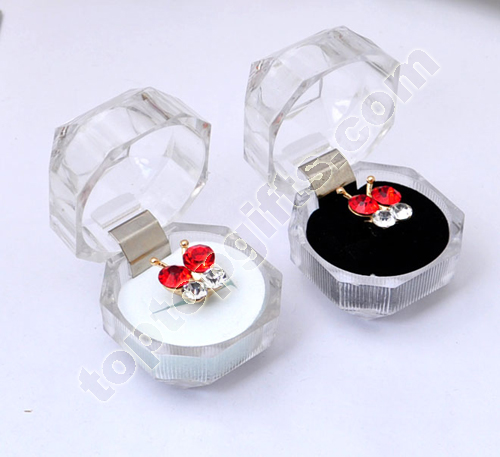 Transparent Acrylic Dust Plug Box Ring