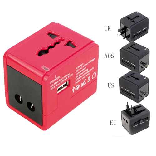 Travel Adapter With Usb Charge Nt 550