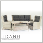 Trieste 4 Pieces Seating Group With Cushions Code Td1009