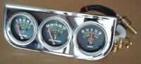 Triple Gauge Kit Oil Press Water Temp Ammeter 2 1 16